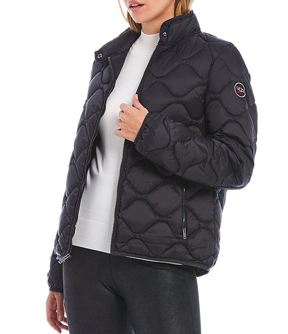 Color:Black - Image 1 - Selda Packable Quilted Full Zip Jacket