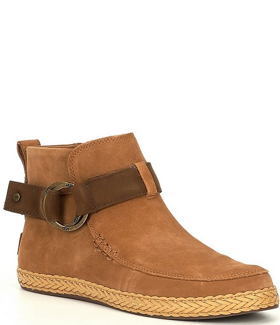 Color:Chestnut - Image 1 - UGG® Sloane Buckle Suede Booties