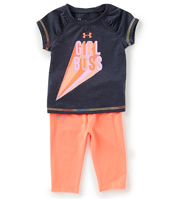 2cebfdca3ec229 Under Armour Baby Girls 12-24 Months Girl Boss Short Sleeve Tee & Solid Leggings  Set | Dillard's
