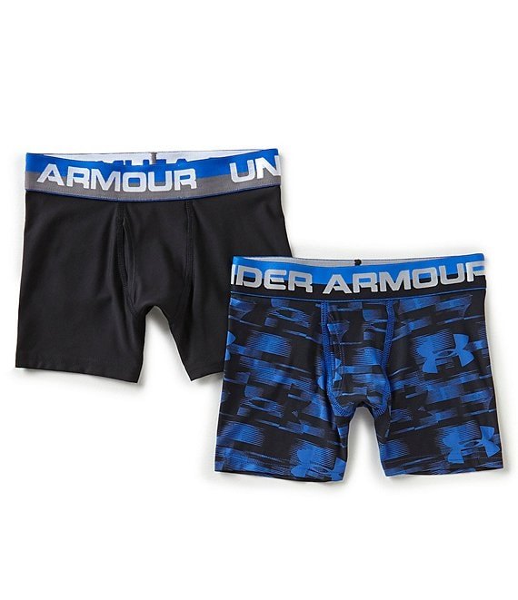 dcabd604a53597 Under Armour Big Boys 8-20 2-Pack Blur/Solid Boxer Briefs | Dillard's