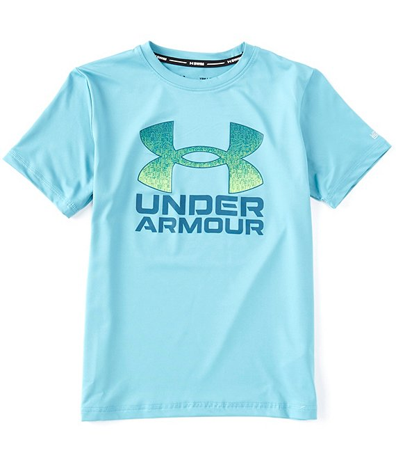 Color:Cosmos - Image 1 - Big Boys 8-20 Short-Sleeve Gradient-Fill Surf Rashguard
