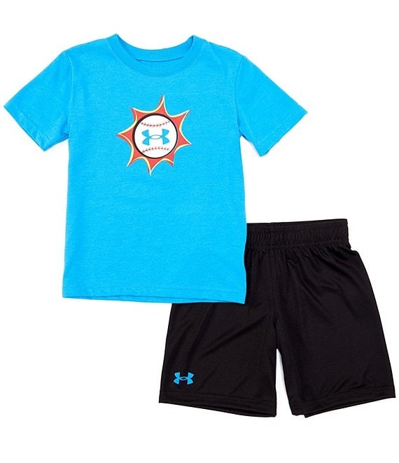 Under Armour Toddler Boys 2T-4T Short-Sleeve Baseball Pow Tee & Shorts Set