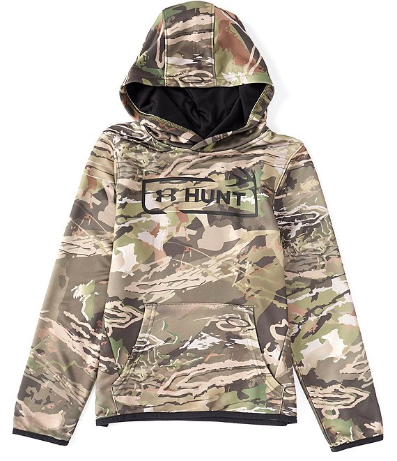 Under Armour Under Armour Outdoor Big Boys 8-20 Hunt Camouflage Hoodie