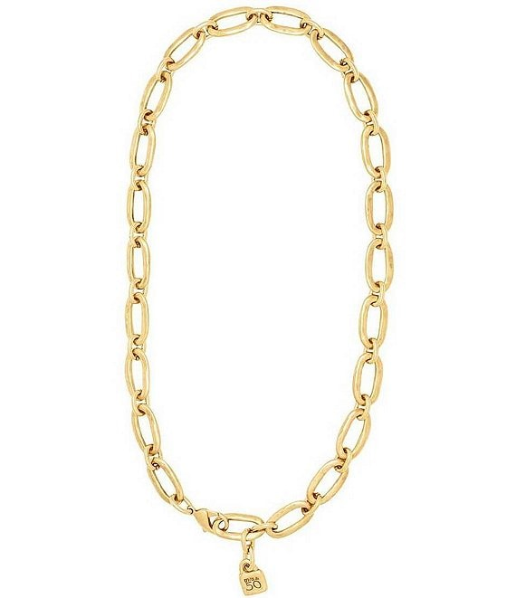 UNOde50 Link Chain 18KT Gold Overlay Necklace