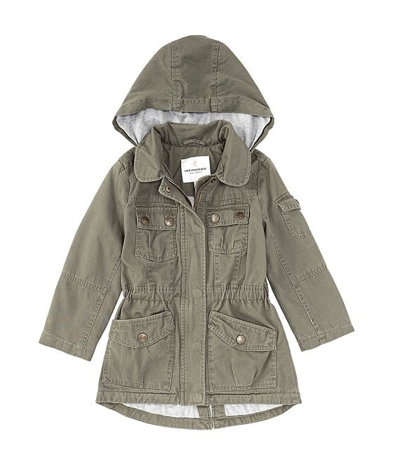 Color:Olive - Image 1 - Little Girls 2T-6X Anorak Twill Jacket