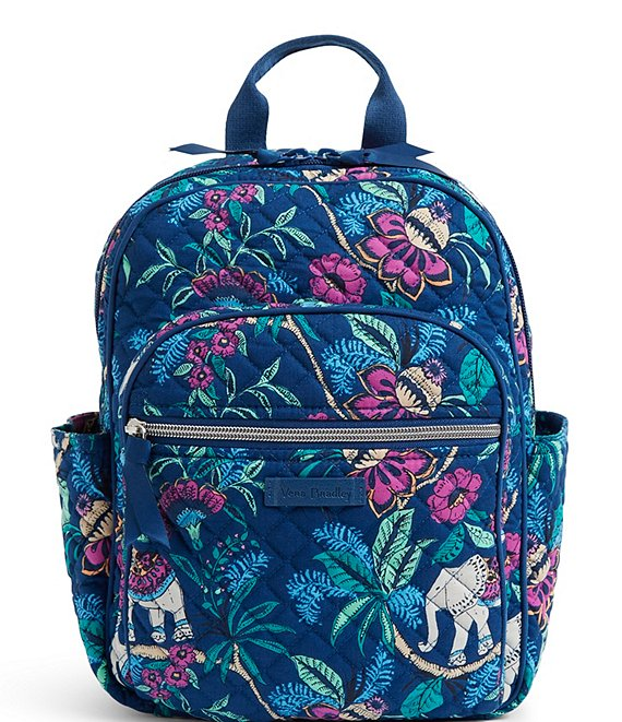 Color:Kerala Elephants - Image 1 - Icon Small Quilted Backpack