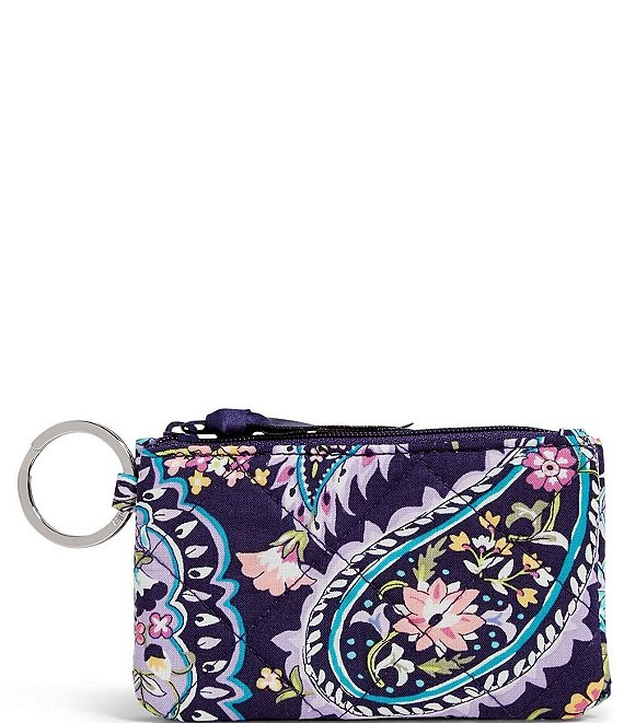 Color:French Paisley - Image 1 - Iconic RFID Deluxe Zip ID Case