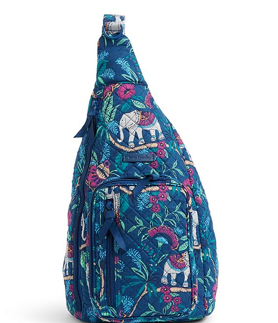 Color:Kerala Elephants - Image 1 - Iconic Sling Quilted Backpack