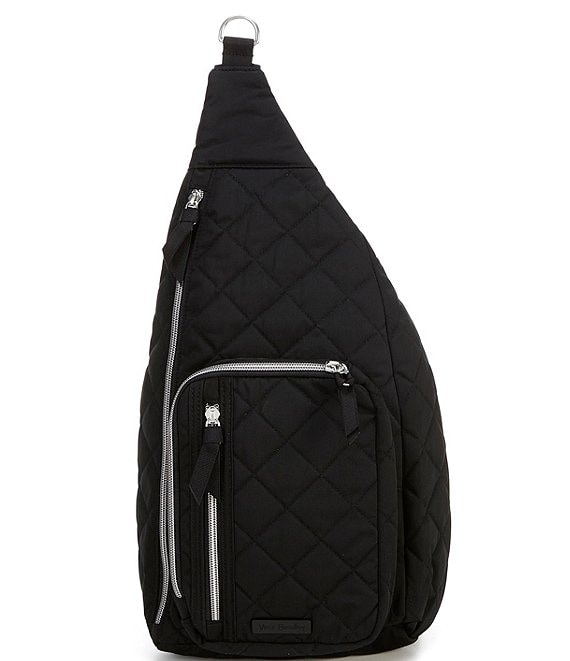 Color:Black - Image 1 - Performance Twill Collection Sling Backpack
