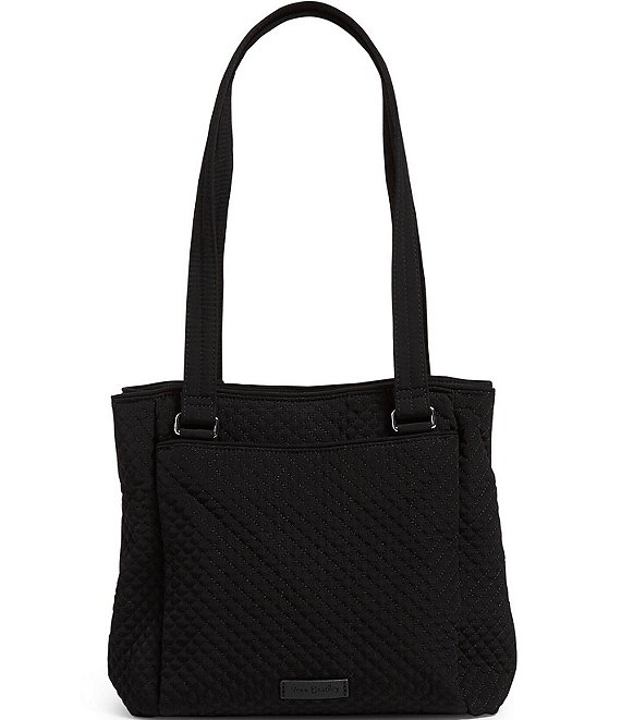 Color:Classic Black - Image 1 - Microfiber Collection Multi-Compartment Shoulder Bag