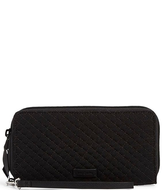 Color:Classic Black - Image 1 - Microfiber Collection RFID Accordion Wristlet