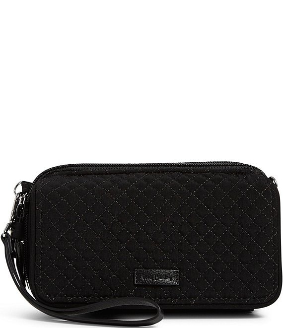 Color:Classic Black - Image 1 - Microfiber Collection RFID All In One Crossbody Bag