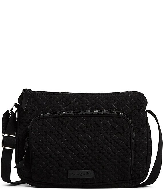 Color:Classic Black - Image 1 - Microfiber Collection RFID Little Hipster Crossbody Bag