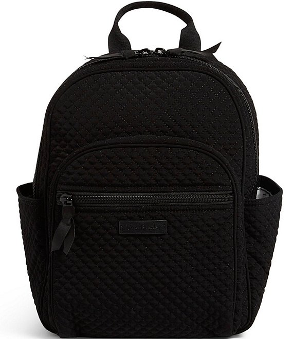 Color:Classic Black - Image 1 - Microfiber Collection Small Backpack Bag