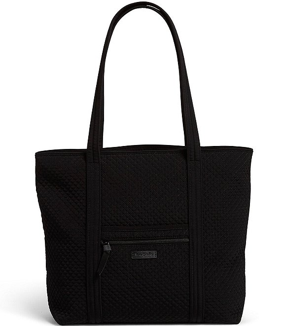 Color:Classic Black - Image 1 - Microfiber Collection Vera Tote Bag
