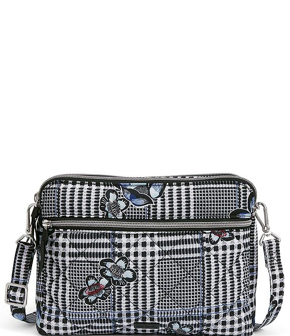 Color:Bedford Plaid - Image 1 - Performance Twill Collection Triple Compartment Bedford Plaid Crossbody Bag