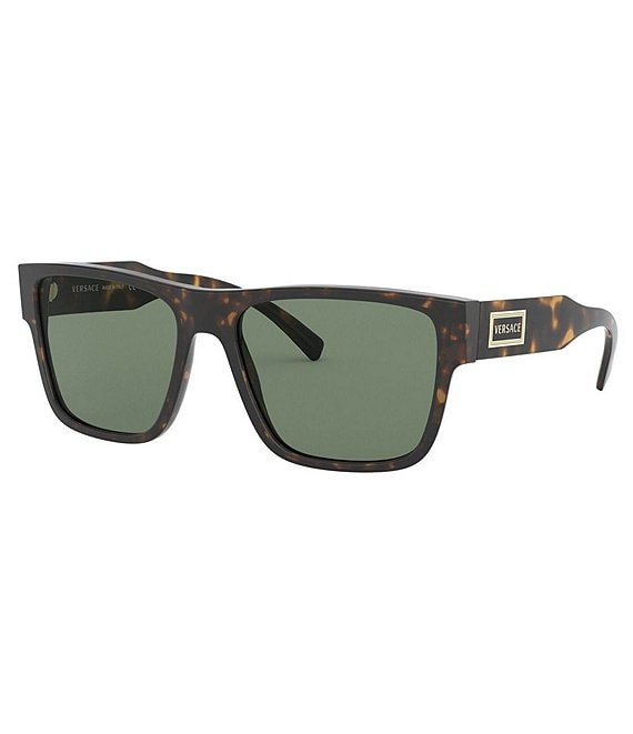 Color:Havana - Image 1 - 90s Vintage Logo Flat Top 56mm Sunglasses