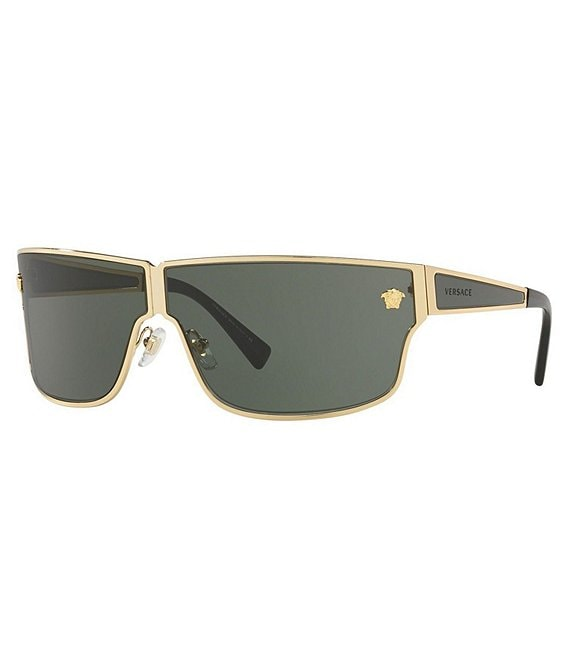 Color:Green/Gold - Image 1 - Medusa Aspis Square Sunglasses
