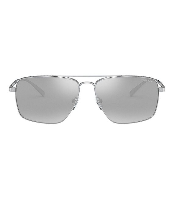 Color:Silver - Image 1 - Navigator Mirrored 61mm Sunglasses