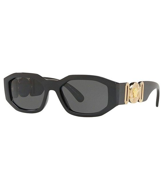 Color:Black - Image 1 - Rectangular Slim Sunglasses