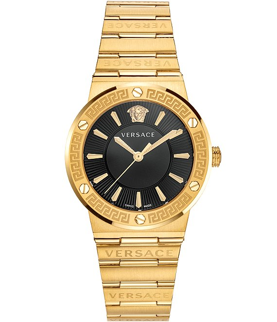 Color:Gold - Image 1 - Women's Greca Gold Link Watch