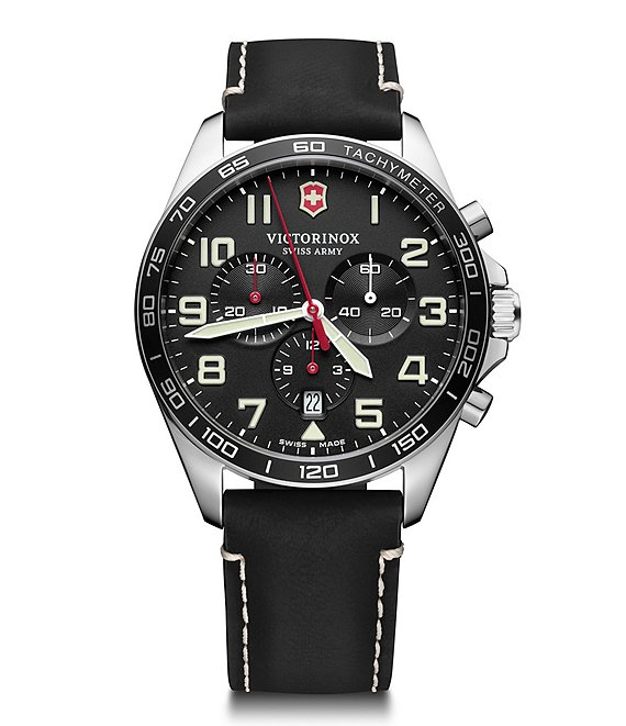 Color:Black - Image 1 - Field Force Black Strap Chronograph Watch