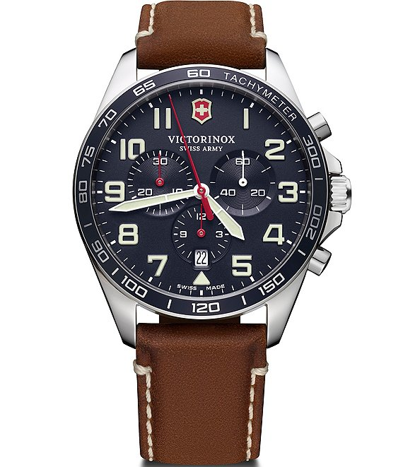 Color:Brown - Image 1 - Field Force Brown Strap Multifunction Watch