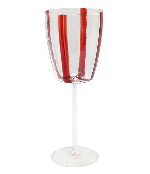 VIETRI Stripe Red Wine Glass