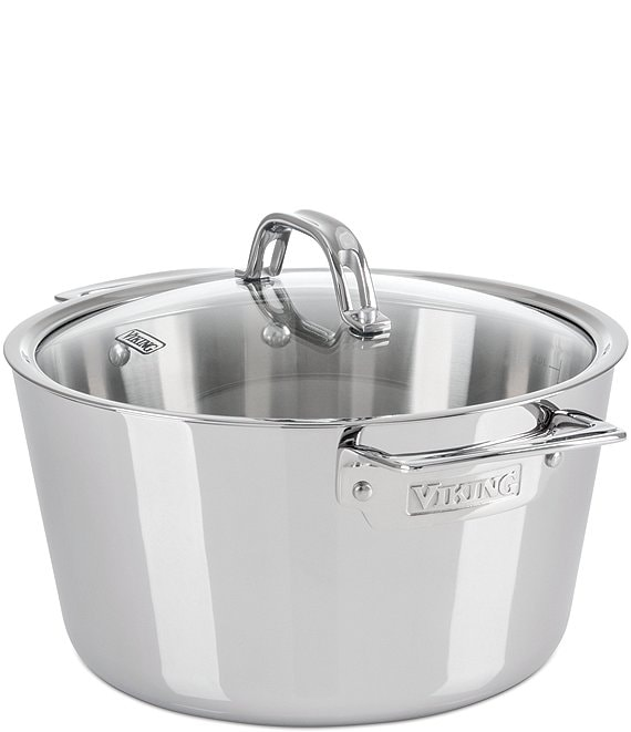 Viking Contemporary 3-Ply Stainless Steel 5.2-Quart Dutch Oven with Lid