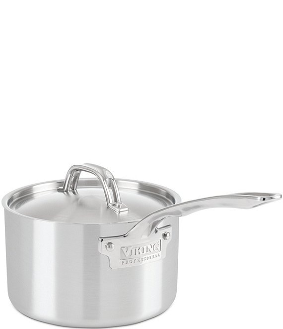 Viking Professional 3-Ply Stainless Steel Satin Finish 3-qt Saucepan with Lid