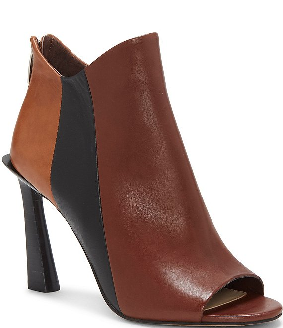 Color:Whiskey Brown - Image 1 - Aritziana Colorblock Leather Shooties
