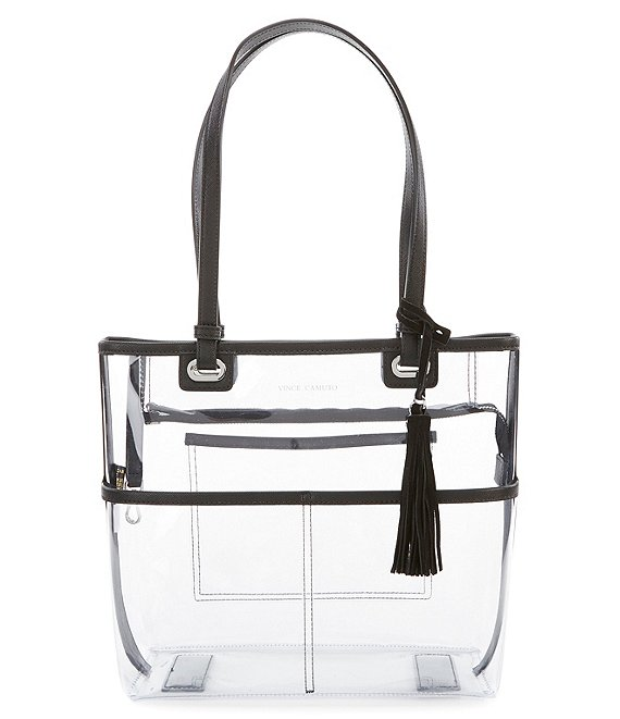 Vince Camuto Aryna Clear Small Colorblock Tote Bag