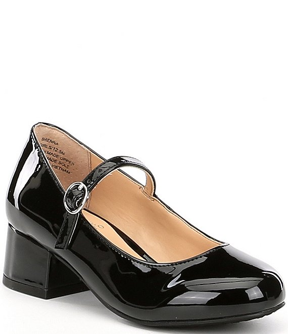 Vince Camuto Girls' Brenna Patent Block Heel Mary Janes