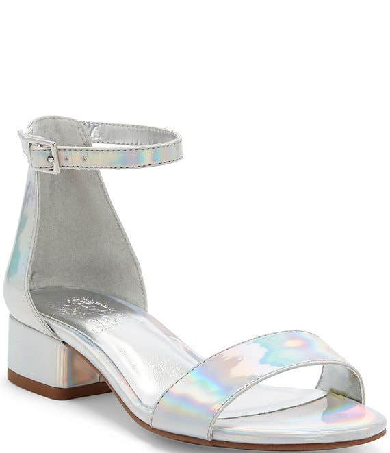 Color:Silver Iridescent - Image 1 - Girls' Pascala Dress Sandals (Toddler)