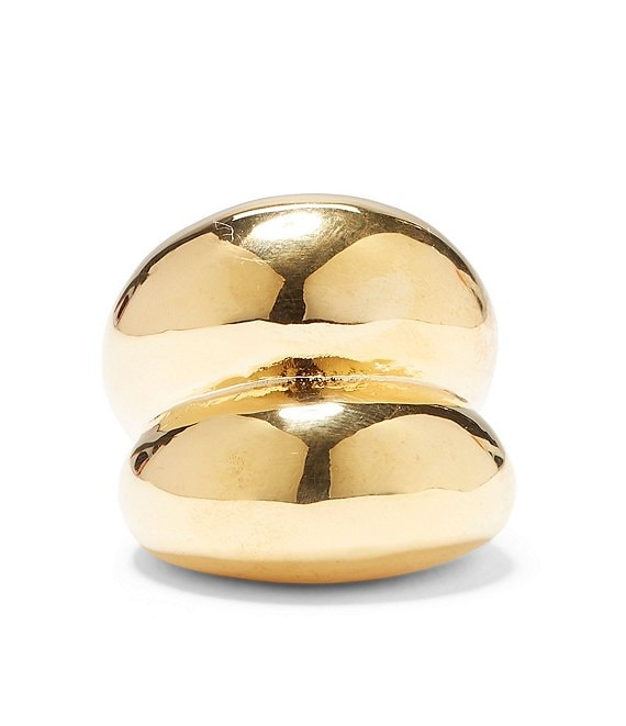 Color:Gold - Image 1 - Gold Plated Chunky Statement Ring