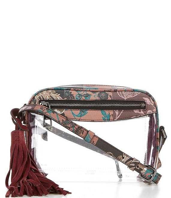 Color:Multi - Image 1 - Lynza Clear and Multi Trimmed Crossbody Bag