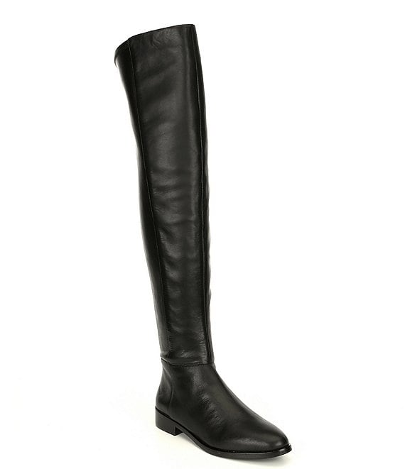 Vince Camuto Hailie Over-the-Knee Leather Block Heel Boots