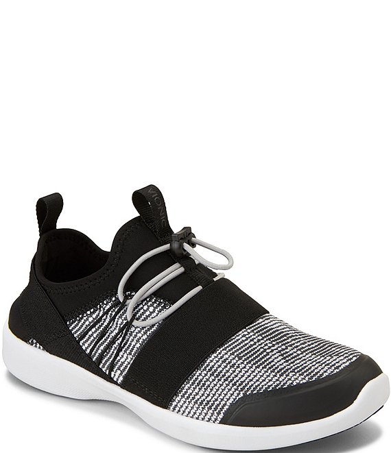 Color:Black/White - Image 1 - Alaina Bungee Lace Up Sneakers