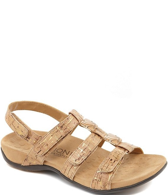 Color:Gold Cork - Image 1 - Amber Cork Sandals