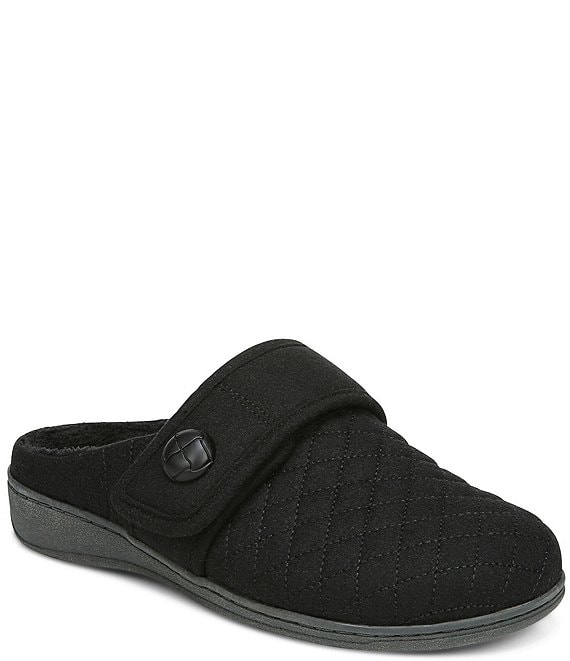 Color:Black - Image 1 - Carlin Quilted Slippers