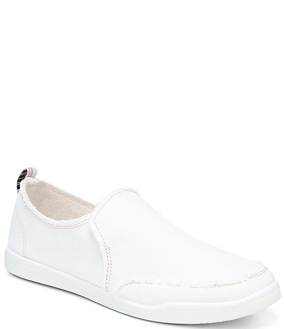 Color:Cream - Image 1 - Malibu Canvas Slip On Sneakers