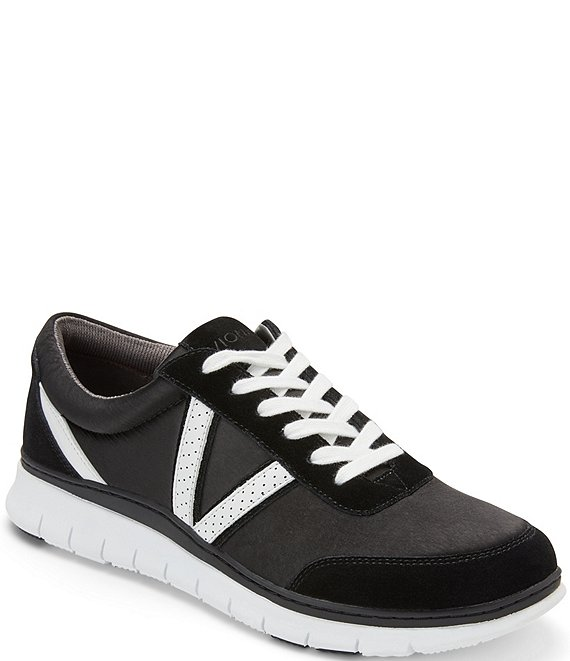 Color:Black - Image 1 - Nana Satin & Leather Sneakers