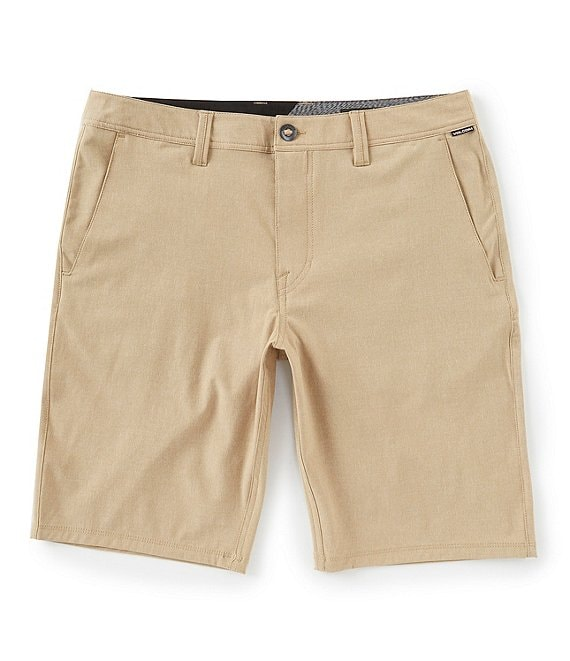 Color:Dark Khaki - Image 1 - Frickin SNT 21#double; Outseam REPREVE® Recycled Materials Hybrid Shorts