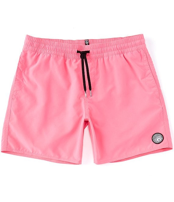 Color:Desert Pink - Image 1 - Lido 16#double; Outseam Solid Trunks