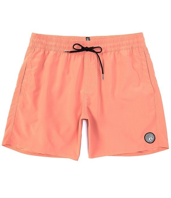 Color:Orange - Image 1 - Lido 16#double; Outseam Solid Trunks