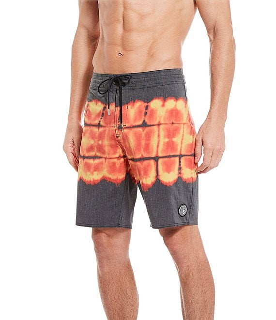 Color:Black - Image 1 - Trip Trip Stoney 19#double; Outseam Board Shorts