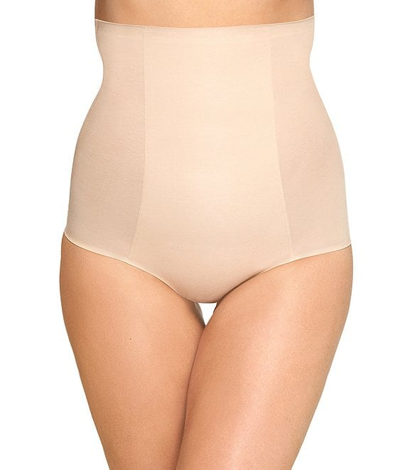 Color:Sand - Image 1 - Beyond Naked Cotton Shaping Hi-Waist Brief