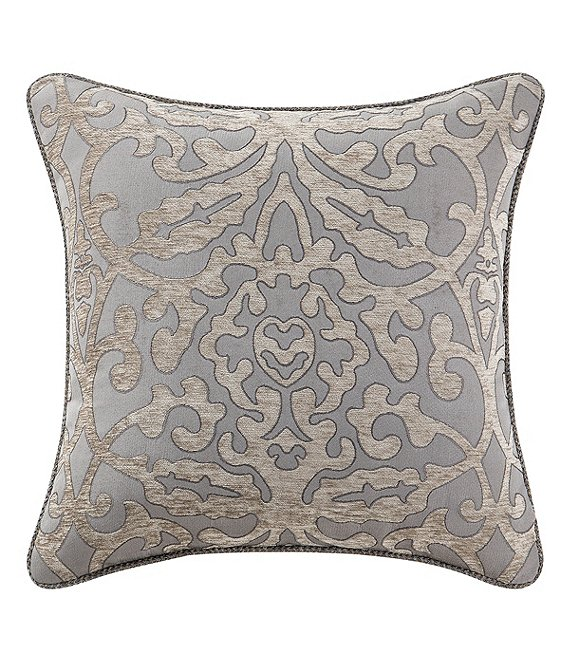 Color:Multi - Image 1 - Carrick Damask & Medallion Pillow
