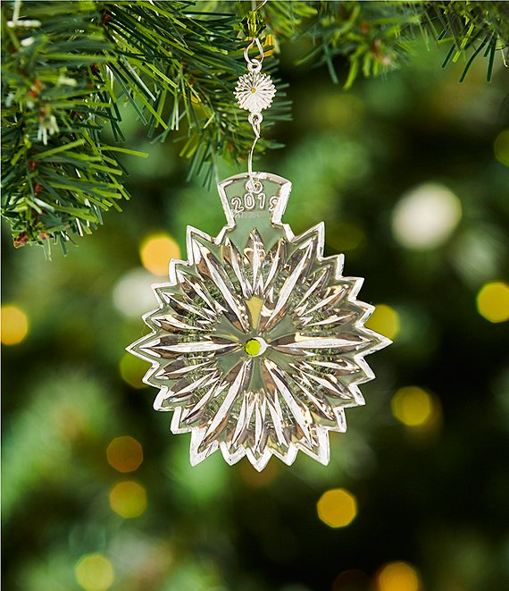 Waterford Crystal Christmas Ornaments.Waterford Crystal 2019 Snowflake Wishes Crystal Ornament