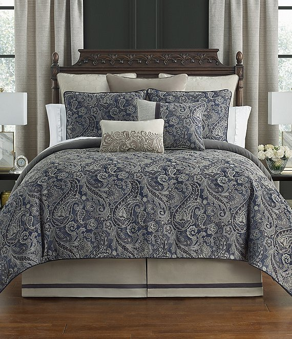 Color:Blue - Image 1 - Danehill Reversible Comforter Set